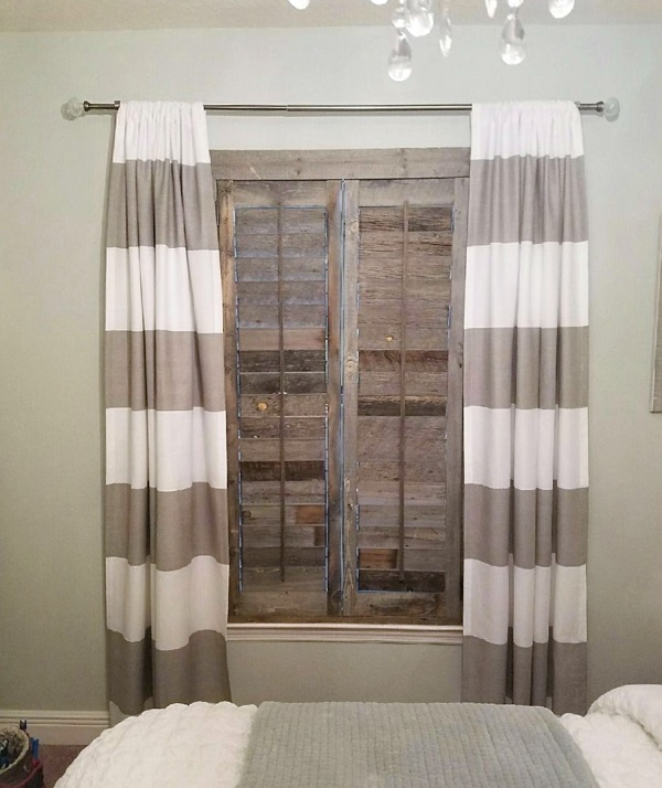 Fort Lauderdale reclaimed wood shutter bedroom