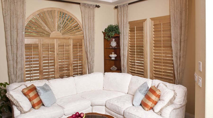 Ovation Wood Shutters In Fort Lauderdale Living Room
