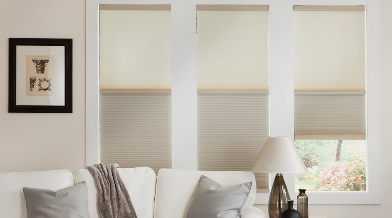 Cellular shades in a Fort Lauderdale living room