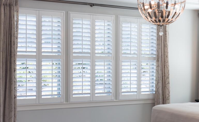 Fort Lauderdale plantation shutters bedroom