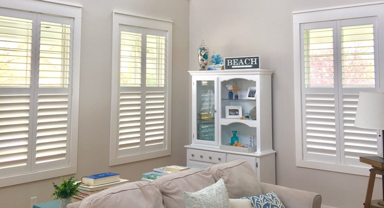 Fort Lauderdale FL shutters in living room