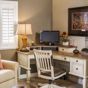 Fort Lauderdale home office window shutters.