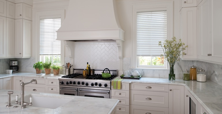 Fort Lauderdale white faux wood blinds
