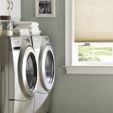 Fort Lauderdale laundry room pull-down shades.