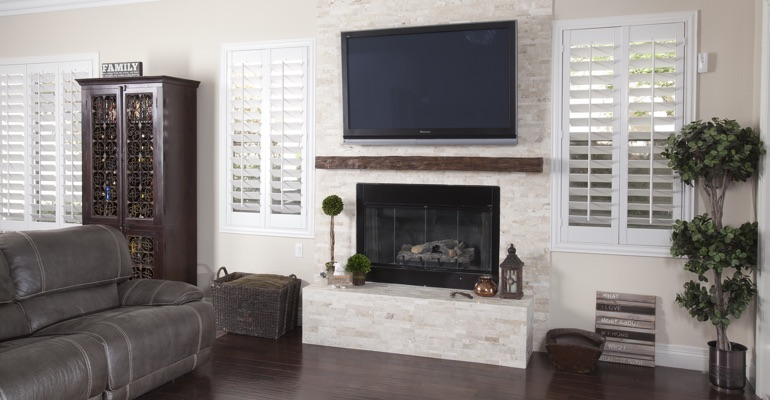 interior shutters in Fort Lauderdale family room