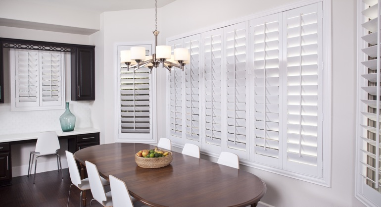 classic shutters in Fort Lauderdale dining room