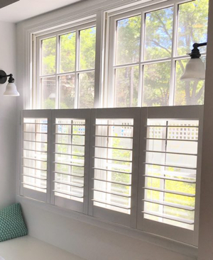 Fort Lauderdale faux wood cafe shutters