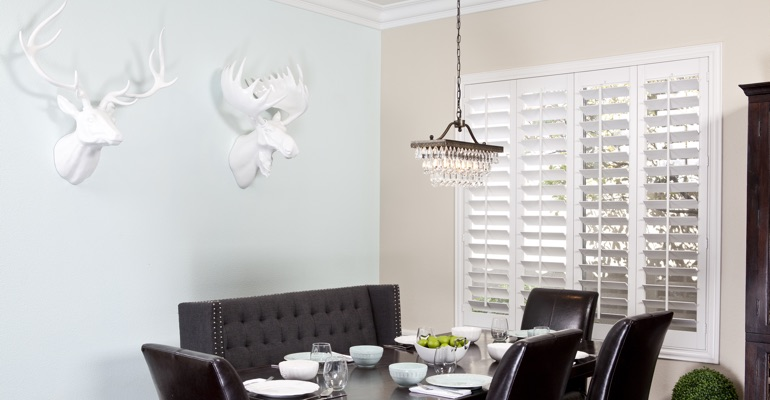 Fort Lauderdale dining room shutters