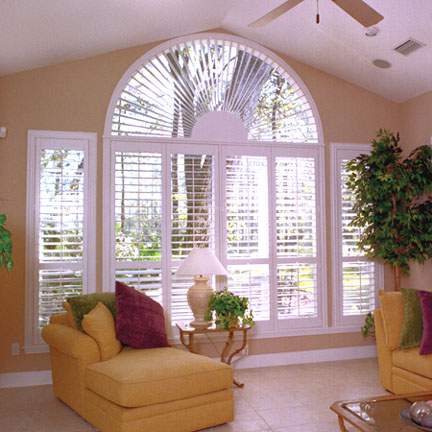 Half circle window shutter Fort Lauderdale