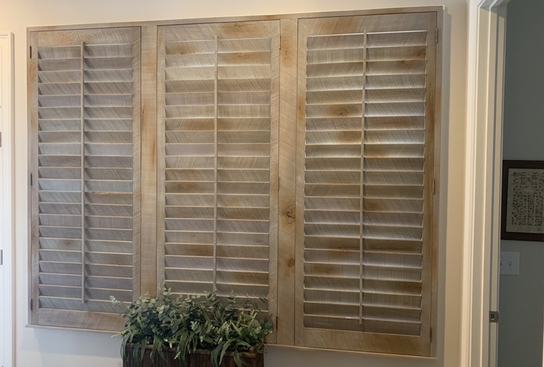 Closed reclaimed wood shutters in Fort Lauderdale