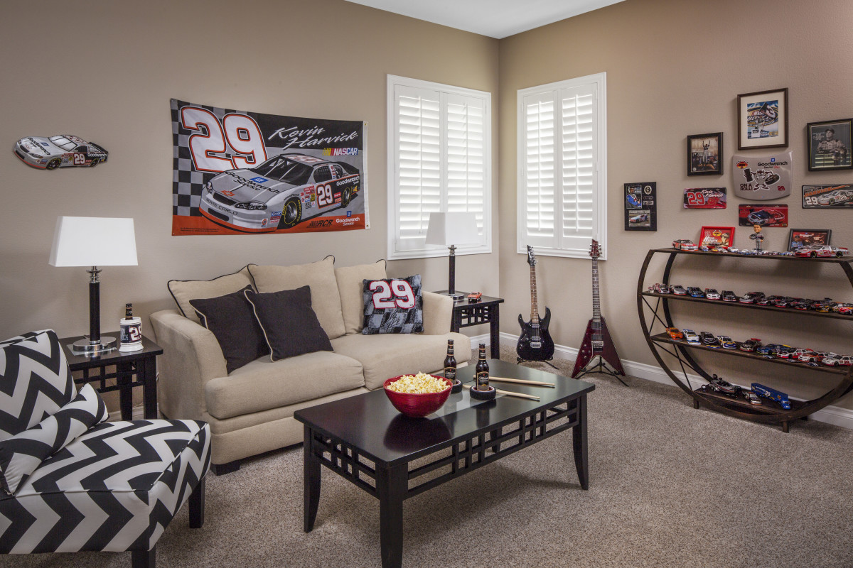 Fort Lauderdale man cave with shutters