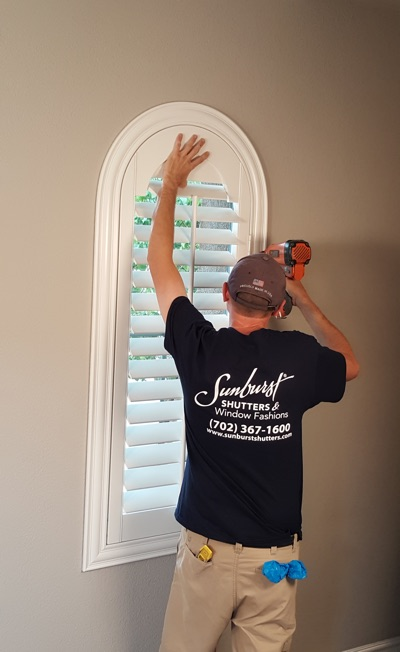 Shutter install in Fort Lauderdale bedroom
