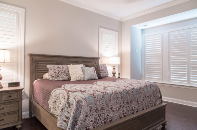 Fort Lauderdale bedroom with light block shutters