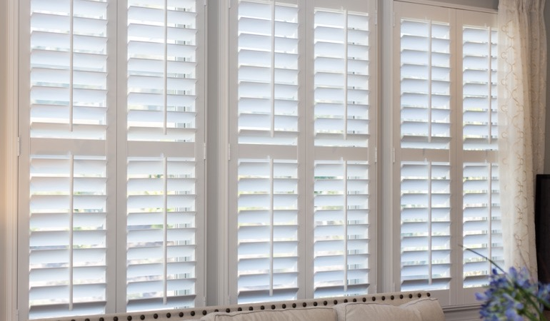 Faux wood plantation shutters in Fort Lauderdale