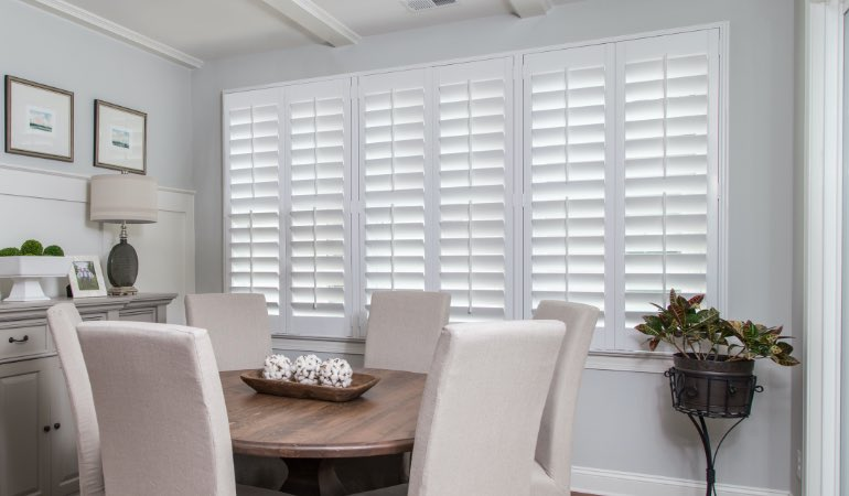 shutters in Fort Lauderdale living room