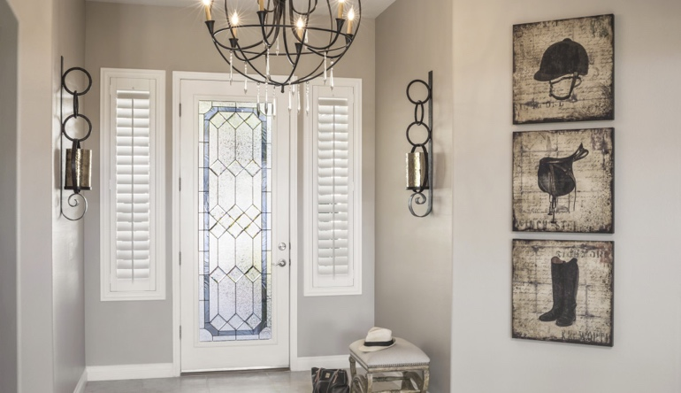 Fort Lauderdale entryway shutters