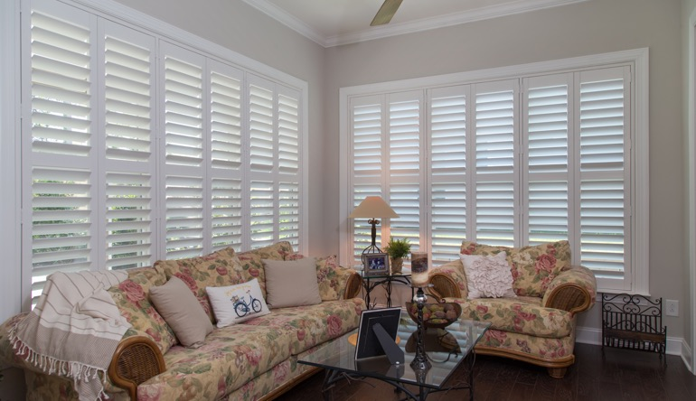 Fort Lauderdale sunroom interior shutters