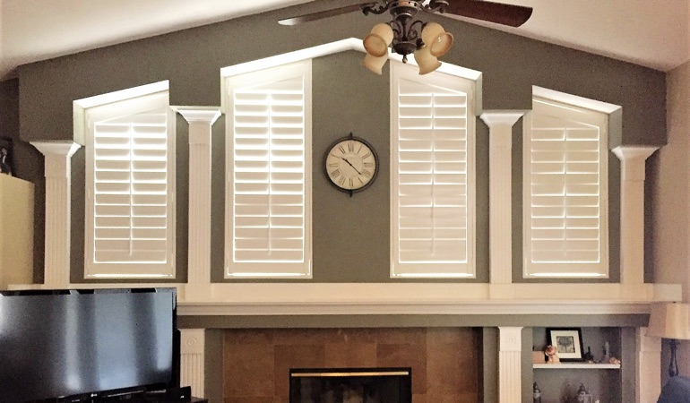 Polywood Shutters in Family Room in Fort Lauderdale