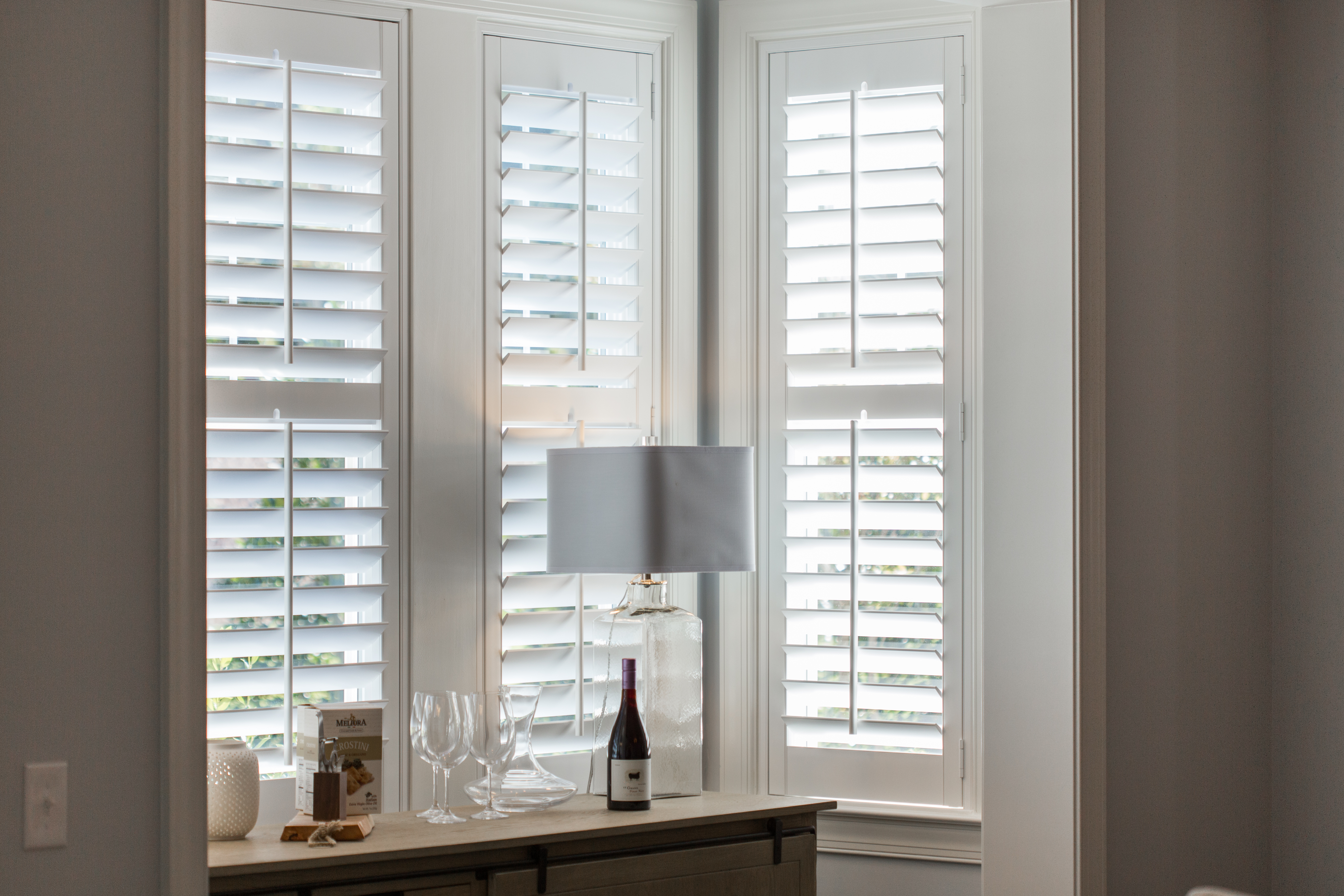 White shutters in Fort Lauderdale alcove.