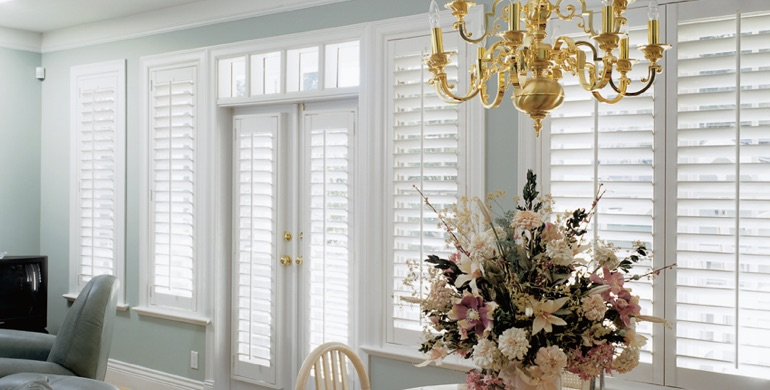 Fort Lauderdale sunroom polywood shutters