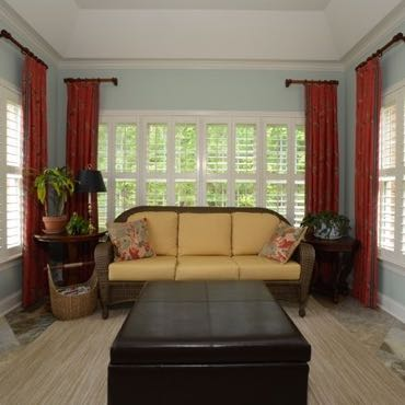 Fort Lauderdale sunroom plantation shutters.