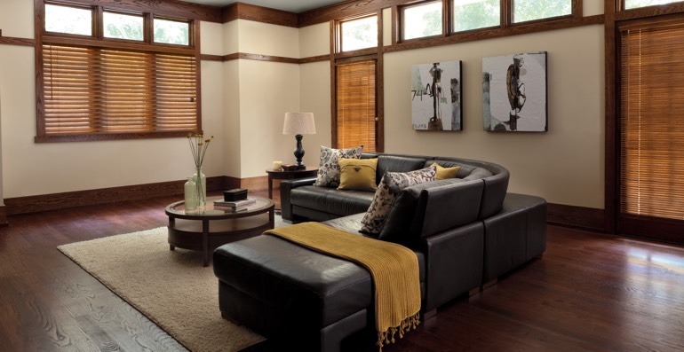 Fort Lauderdale hardwood floor and blinds