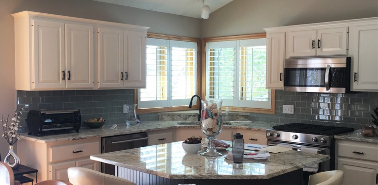 Fort Lauderdale kitchen with shutters and appliances