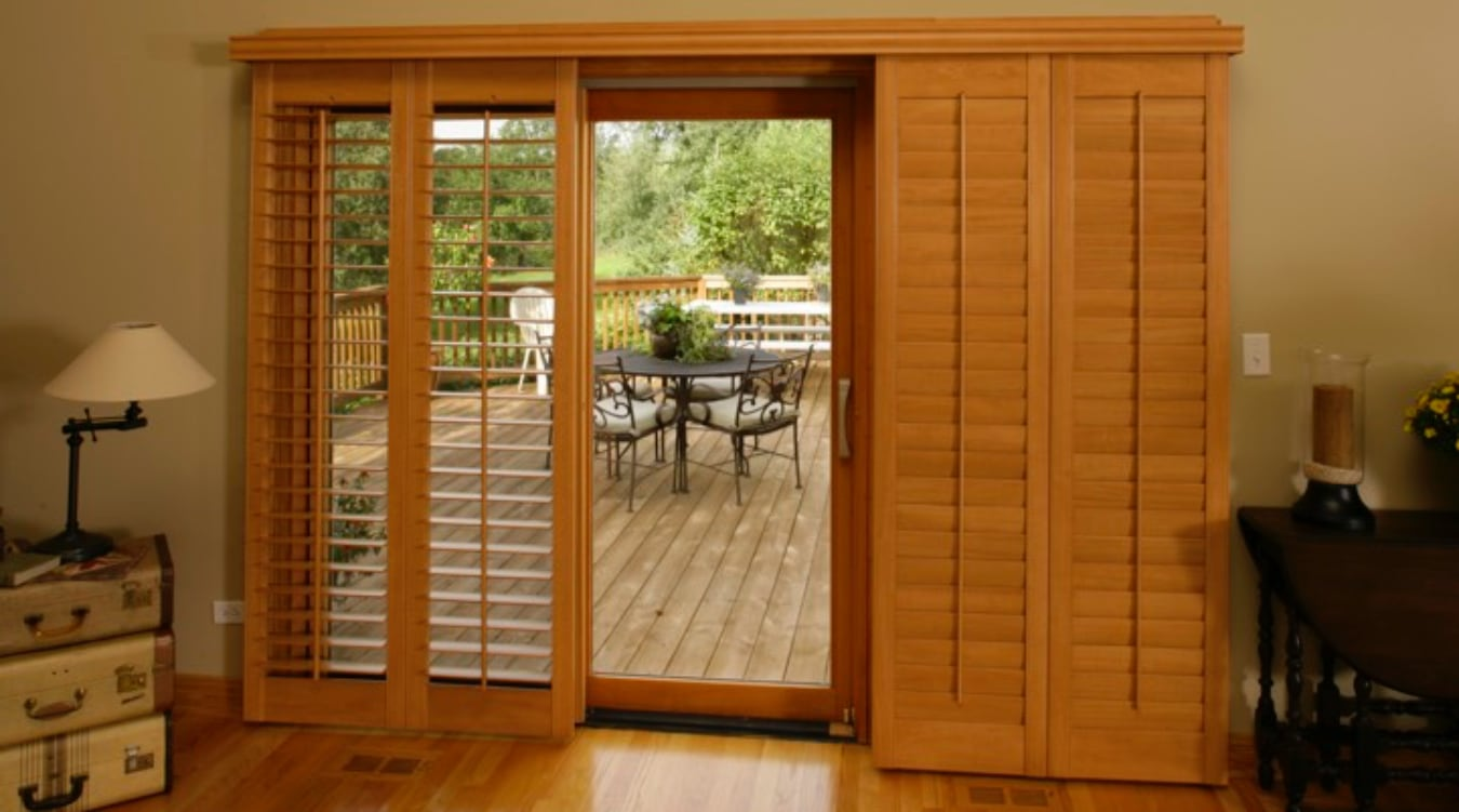 Sliding Glass Door Shutters In Fort Lauderdale Sunburst Shutters