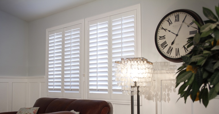 Fort Lauderdale living room indoor shutters