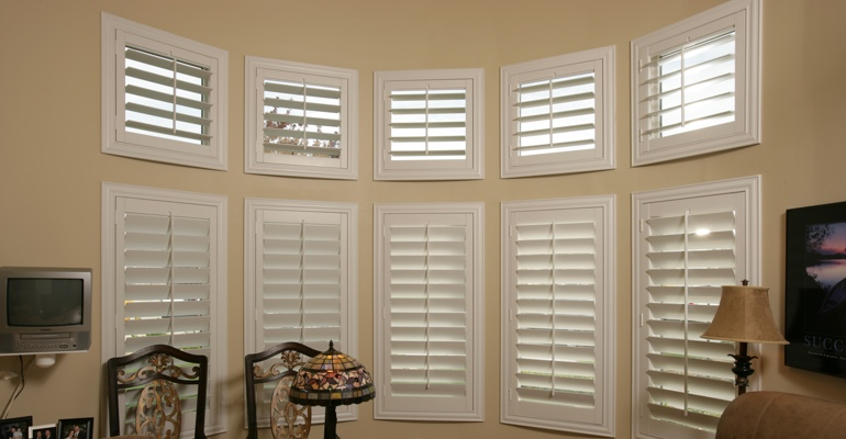 Bay window shutters Fort Lauderdale home office