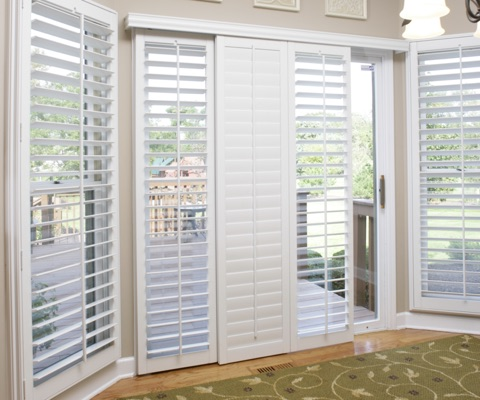 Sliding glass door shutters in fort lauderdale sunburst shutters fl sliding door shutters planetlyrics Image collections