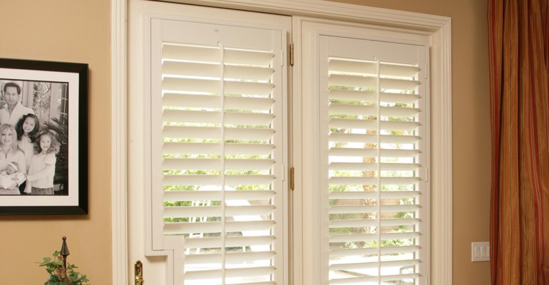 Fort Lauderdale french door plantation shutters