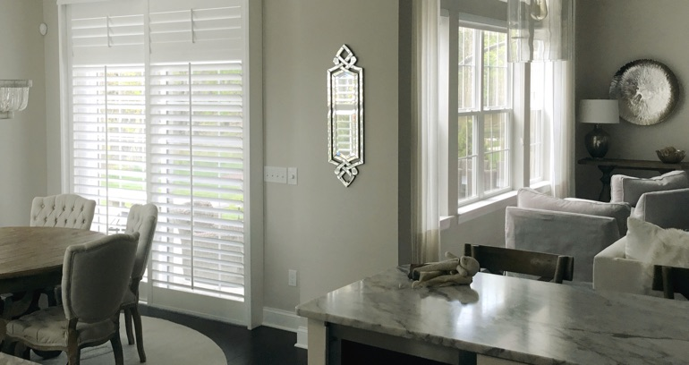 Fort Lauderdale kitchen patio door shutters