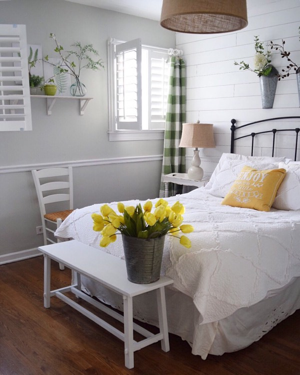Fort Lauderdale cottage bedroom shutters