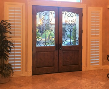 Sidelight Windows. Fort Lauderdale French Door Shutters. French Doors. Fort  Lauderdale Octagon Window Shutter