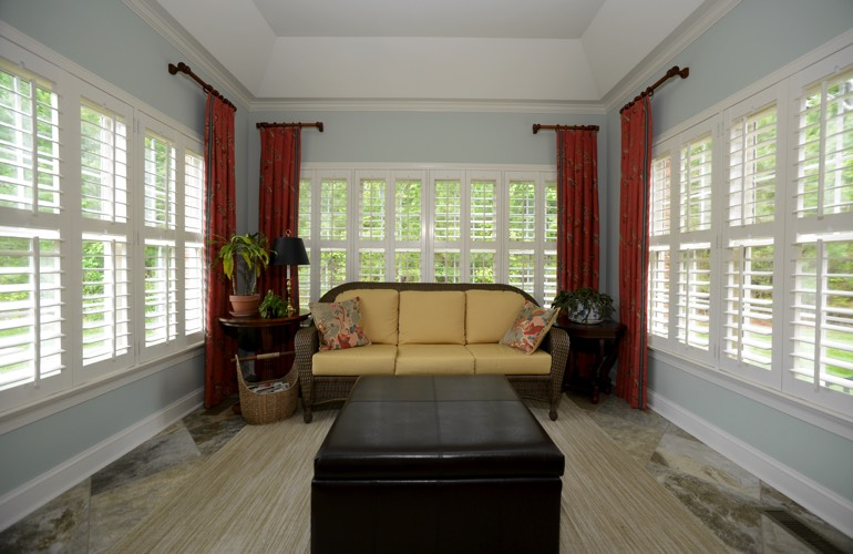 Plantation Shutters In A Fort Lauderdale Sunroom